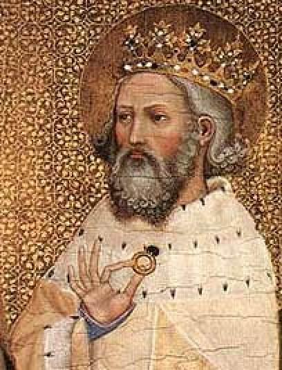 Den hellige kong Edvard Bekjenneren, fra Wilton-diptyket