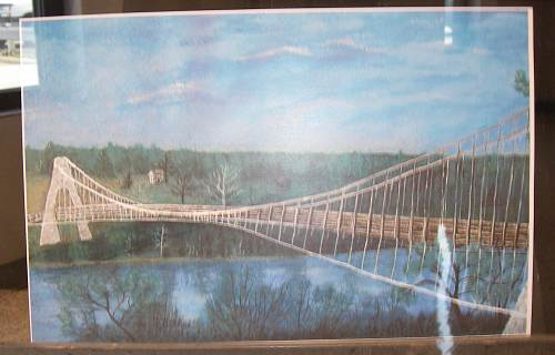 Amazing sexy paintings swinging bridge Girl fell