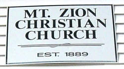 Mt. Zion Christian Church Sign