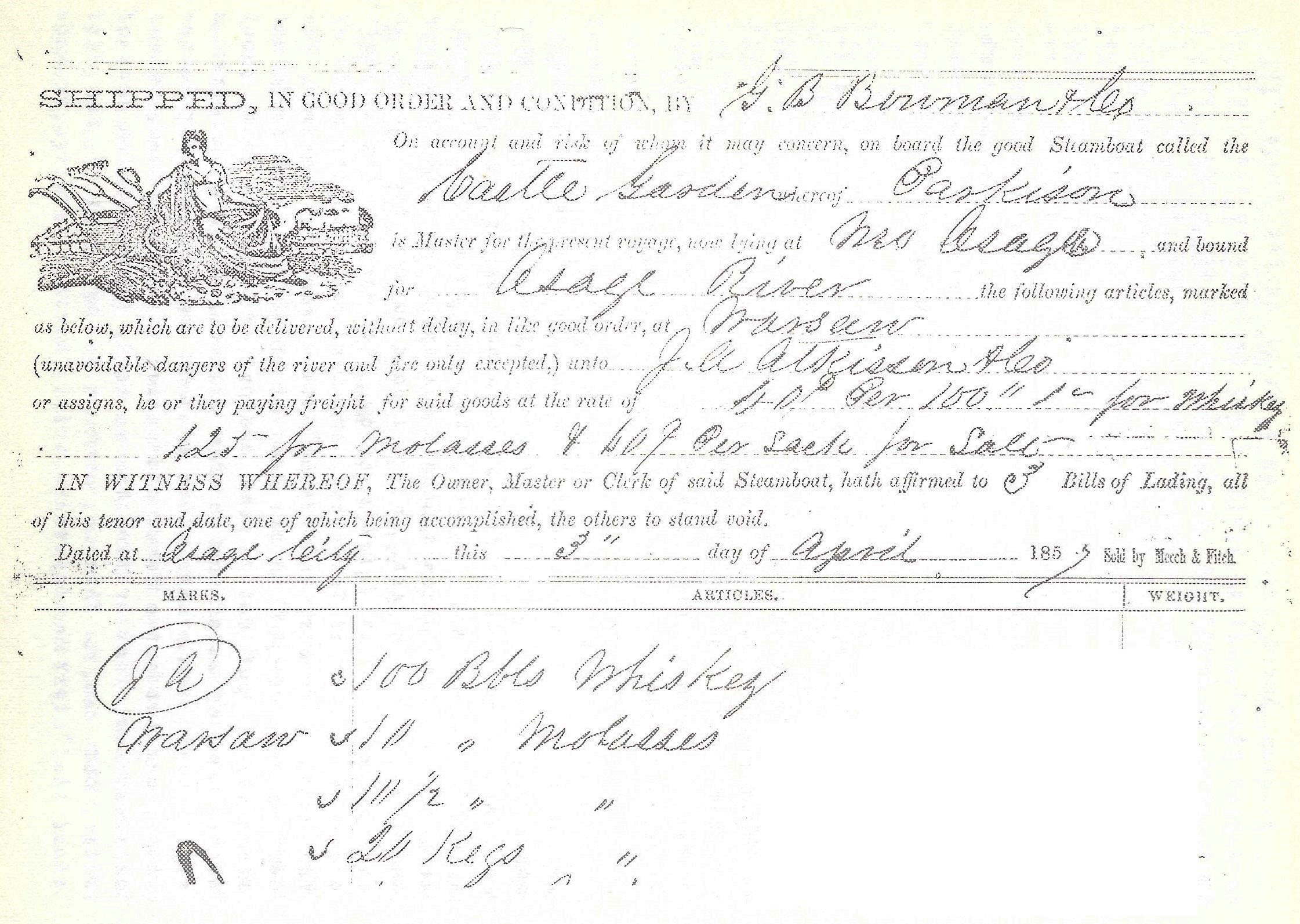 Judge Jenkins History Of Miller County Court Records Check Franklin Illinois Circuit A Portion One Bill Lading