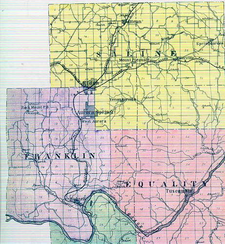 07 Miller County Railroad Map - 1903
