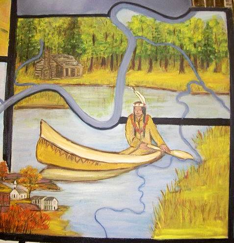 17 Osage Indian in Canoe