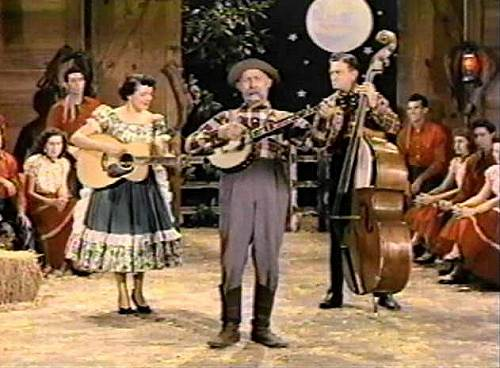16 Lake of the Ozarks Square Dance Team on Grand Ol Opry - Lee and Joyce on Left Sitting