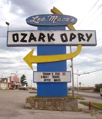 25 Ozark Opry Sign - Highway 54