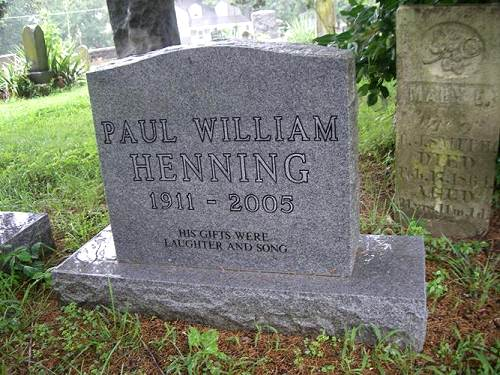 14 Paul Henning Tombstone