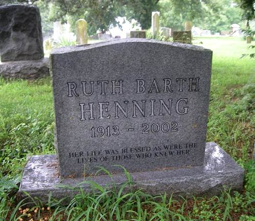 15 Ruth Henning Tombstone