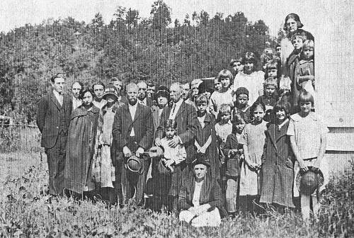 48 Oliver Brockman - Left - Sunday School at Bagnell Church - 28 SEP 1924