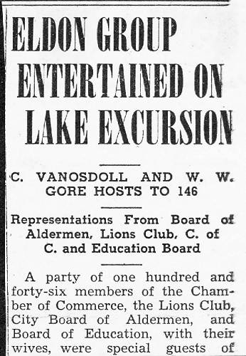 58 Lake Excursion - 1940