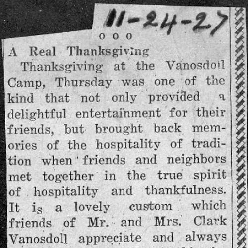 61 Thanksgiving Party - 1927