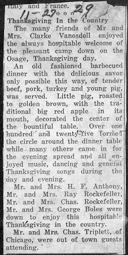 62 Thanksgiving Party - 1929
