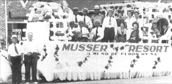 22 Closeup of Musser Tavern Float after  winning Prize in the 1937 Miller County Centennial