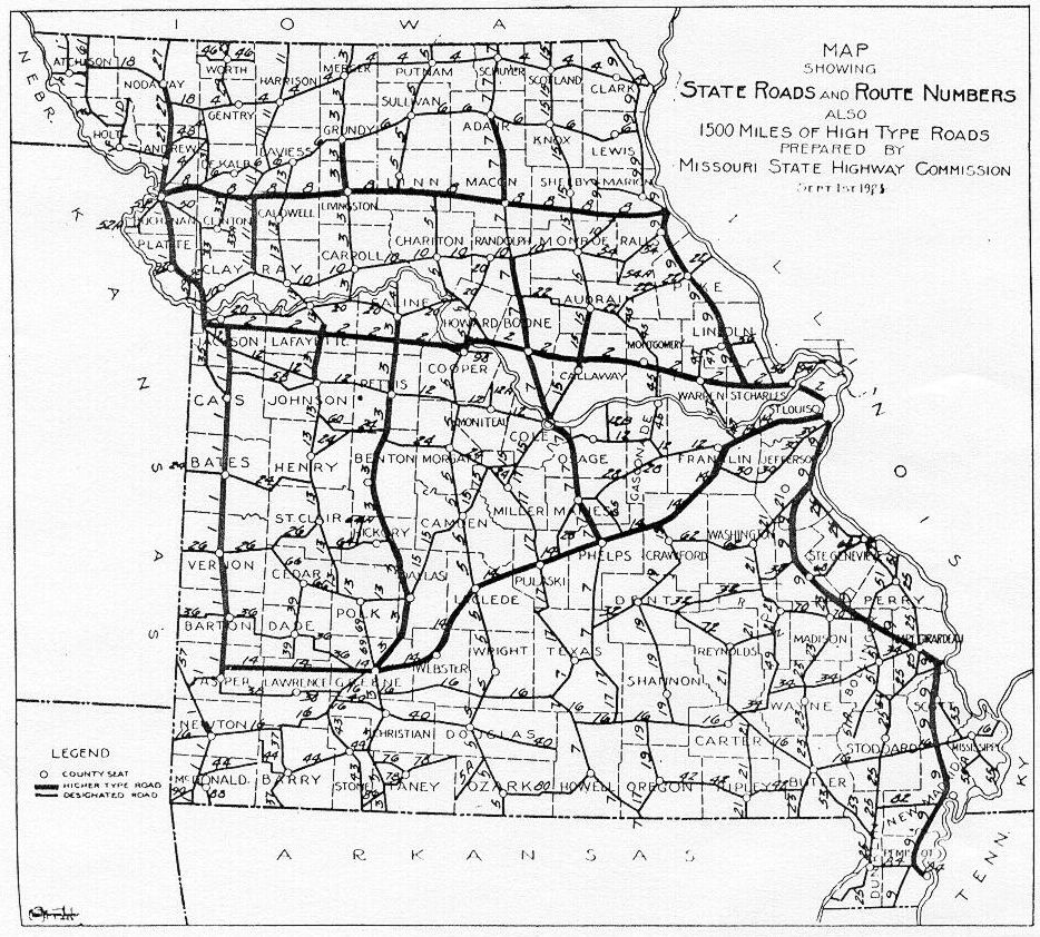 MCHS Presidents Page Miller County Museum Historical Society - Missouri road map