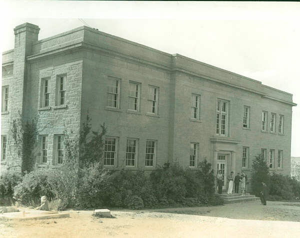 A general view of the administration and class room building.
