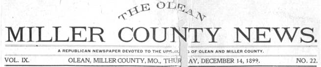 More Old News Page - Miller County Museum & Historical Society